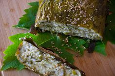 #Cheese #pie with #grape leaves