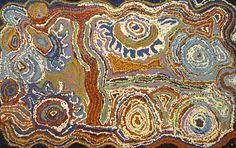 Tjariya (Nungalka) Stanley - Minyma Kutjara Wingellina - 76 x 48 cm http://www.aboriginalsignature.com/art-aborigene-ernabella/tjariya-nungalka-stanley-minyma-kutjara-wingellina-76-x-48-cm