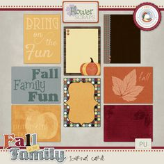 Personal Use :: Element Packs :: Fall is For Family Journal Cards #thestudio #flowerscraps #coordinatedcollection