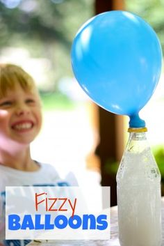 Fizzy Balloons! Bubbles, gas, and expansion! Now this science experiment has got it all! Using house hold ingredients, teach your children all about this fizzy phenomenon and chemical reactions!