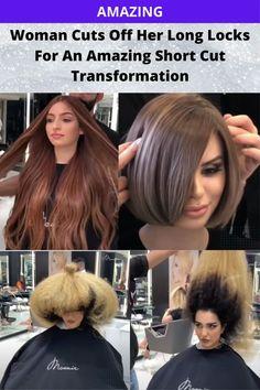 Amazing Women, Just Amazing, Long Locks, Hair Transformation, Short Cuts, Cut Off, Beauty And Fashion, Nature Tree, Funny Love