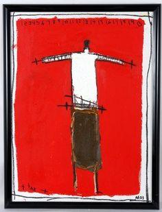 Edward Goss Figure on Red