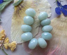 Amazonite Gemstone Faceted Chunky Rondelle Beads