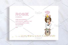Cute Kid Birthday Invitation Card by stockhype on Cute Kid Birthday Invitation with Animals holding up the Number standing on confetti Fun birthday party invites - customize your DIY printable invitations. Kids Birthday Invitation Card, Invitation Card Design, Printable Invitations, Invitation Cards, Invites, Happy First Birthday, First Birthdays, Design Templates, Card Templates