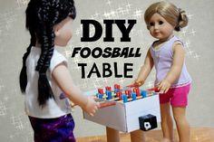 DIY AMERICAN GIRL DOLL FOOSBALL / TABLE SOCCER ~ Craft Tutorial!