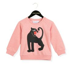 Mini Rodini Panther Sweatshirt Pink | Rewind ecodesign