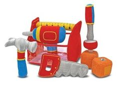Melissa Doug Toolbox Fill and Spill Toddler Toy With Vibrating Drill 9 pcs ** For more information, visit image link. Baby Boy Toys, Baby Play, Toddler Toys, Infant Play, Toddler Stuff, Toys For 1 Year Old, Thing 1, Melissa & Doug, Baby Blocks