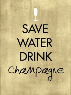 save water; drink champagne {this is a resolution i can stick to}