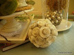 paper rose sphere