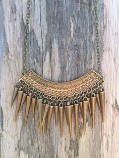 Tribal Fringe Necklace #fringe #bohemian #style
