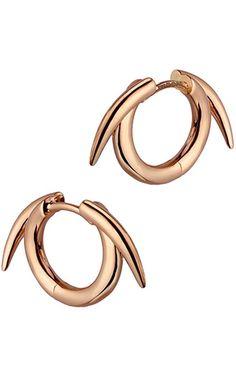Shaun Leane Rose Gold Thorned Earrings