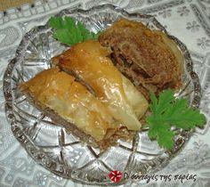 Μπακλαβάς με καρύδια και σουσάμι