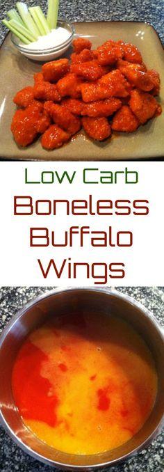 Low Carb Boneless Buffalo Wings - Low Carb, Gluten Free