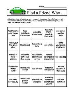 Search Result: Get to know you bingo - TeachersPayTeachers.com