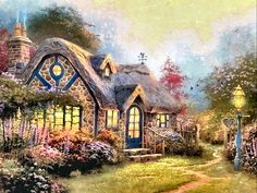 Candlelight Cottage by Thomas Kinkade