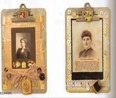 altered clipboards by paper whimsy