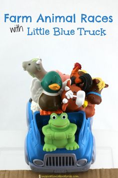 Explore ramps and have farm animal races with Little Blue Truck.