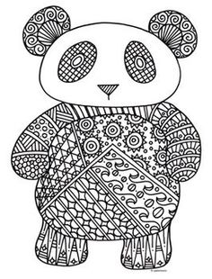 detailed animal colouring pages
