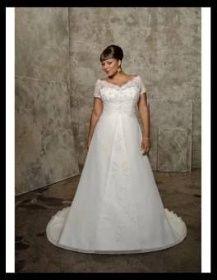 Šaty svatební pro plnoštíhlé