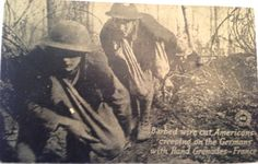World War I France postcard Americans creeping on by JanvierRoad, $8.00