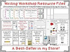 Lucy Calkins - Based Writing Workshop Resource Files $ Mrs. Wheeler's First Grade Tidbits: Writing Workshop Folders