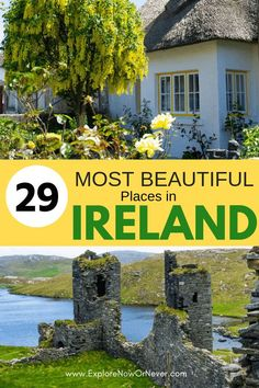 29 Most Beautiful Places in Ireland: See the Emerald Isle The most beautiful places in Ireland? Top travel writers share 29 of their favorite castles, UNESCO sites, quaint Irish villages, secret spots, and more. Ireland Travel Guide, Europe Travel Guide, Europe Destinations, Travel Guides, Asia Travel, Travelling Europe, Travel Checklist, Travel Info, Budget Travel