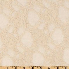 Floral Lace Fabric By The Yard Champagne Lace Fabric Sewing Fabric Stretch New #BenTextilesInc