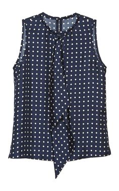 Dots Navy White Top Cravate by Martin Grant