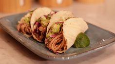 Slow Cooker Chipotle Pork Soft Tacos