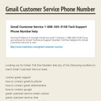 Infographic: Gmail Customer Service Phone Number