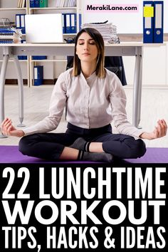 22 Lunch Workout Routine Tips & Hacks | Whether you work from home or at the office, it IS possible to squeeze in a quick sweat sesh between calls and deadlines! There are tons of no equipment workouts you can stream for free, ranging from the 15 minute to 30 minute mark, with longer options to choose from. This post has everything you need - workout essentials, tips to teach you how to look good after a lunch workout, and pre- and post-workout snacks and meals, and more! Fitness Diet, Health Fitness, Post Workout Snacks, Getting Back In Shape, Workout Essentials, No Equipment Workout, Weight Loss Tips, Fit Women, Workouts