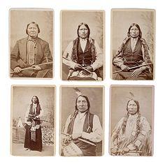 Rare Daniel S. Mitchell & John Hillers American Indian CDV Album