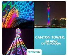 Canton Tower. Localizada na China, esta torre é iluminada por sete mil lâmpadas LED que são controladas toda a noite para mostrar diferentes cores e animações. É um espetáculo por noite! Ficamos com muita vontade de ver de perto, e você?