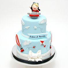 Pilot Kid & Plane - Cake