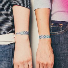 tattly temporary tattoos -- friendship bracelets.  how fun for little girls and Glamp Weekend attendees!