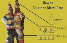 How to Make a Courir de Mardi Gras Costume.