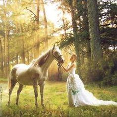 girl-horse-animal-forest-beautiful-vegetation-dress-ruffles-fashion - Sonoma Christian Home Horse Wedding, Wedding Dress, Prom Dress, Just Dream, Moon Goddess, Celtic Goddess, Horse Photos, Horse Girl, Horse Horse