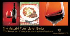 Veal Parmigiana with Matariki 2009 Reserve Merlot Cabernet Sauvignon Cabernet Sauvignon, Wines, Red Wine, Alcoholic Drinks, Food, Alcoholic Beverages, Eten, Meals, Alcohol