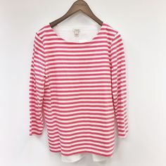 J. Crew | woven back stripe top NWT ·  Cotton. ·  Standard fit. ·  Machine wash. ·  Size Small New with tags NO TRADES J. Crew Tops Tees - Long Sleeve