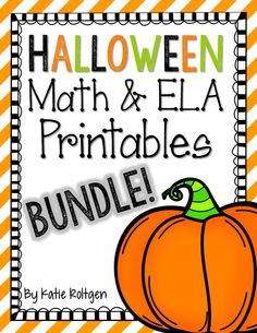 This is a set of 43 Halloween-themed practice pages for math and literacy. This bundle is Common Core-aligned and it's ready to print! Here's what's included:  21 math pages addressing these skills: - Writing numbers 0-25 - Number tracing 0-10 - Missing numbers 0-10 and 0-20 - Comparing sets and numbers - Before/after numbers 0-10 and 0-20 - Count and write how many - Making 5 - Addition and subtraction - Ten frames - 2-D and 3-D shapes