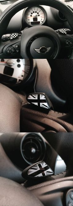 MINI Cooper Paddle Shifter Badges  Add a little bit of love to your MINI today with our GoBadges shift lever badges. Simple, sporty and a cinch to install. Another GoBadge original!