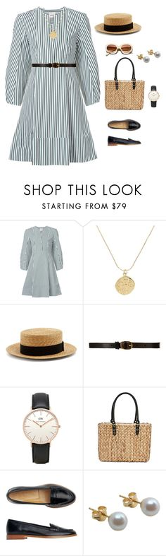 """""""grace kelly"""" by abigailshanice ❤ liked on Polyvore featuring Khaite, Prada, Été Swim, CO-OP Barneys New York, Topshop, Straw Studios, Toast and Other"""