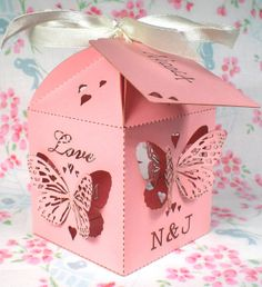 20x Butterfly Wedding Favour Boxes - Personalised, by The Cross-Eyed Fox on Folksy, £19.00