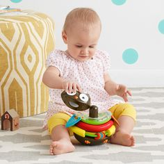 Amazon.com : Skip Hop Explore and More Rocking Stacker, Owl : Baby