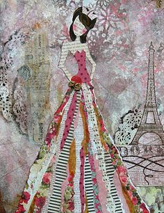 awesome collage for the dress Julie Nutting Designs Collage Kunst, Collage Art, Painting Collage, Painting Abstract, Acrylic Paintings, Kunstjournal Inspiration, Art Journal Inspiration, Mixed Media Canvas, Mixed Media Collage