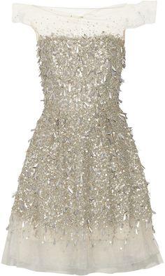 Jenny Packham Embellished Tulle Dress, Metallic, Reflection: Fashion, h-a-l-e.com