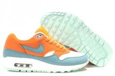 sports shoes b560c 54346 Now Buy 308866 800 Women Womens Nike Air Max 1 Bright Mandarin Mineral Blue  Top Deals Save Up From Outlet Store at Pumafenty.