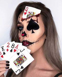 43 idee di trucco da clown alla moda per Halloween 2019 MenuHomeBeautyFashionHea. Fröhliches Halloween, Creepy Halloween Makeup, Amazing Halloween Makeup, Zombie Makeup, Sfx Makeup, Vintage Halloween, Makeup Art, Halloween Costumes, Easy Clown Makeup