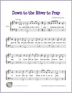 Down by the River to Pray | Free Sheet Music for Piano - MakingMusicFun.net