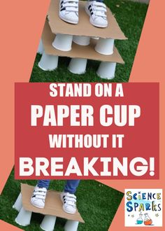 How can you stand on a paper cup without breaking it? – Science Experiments for Kids